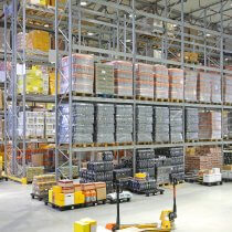 Big Distribution Center Logistics Warehouse Building Interior